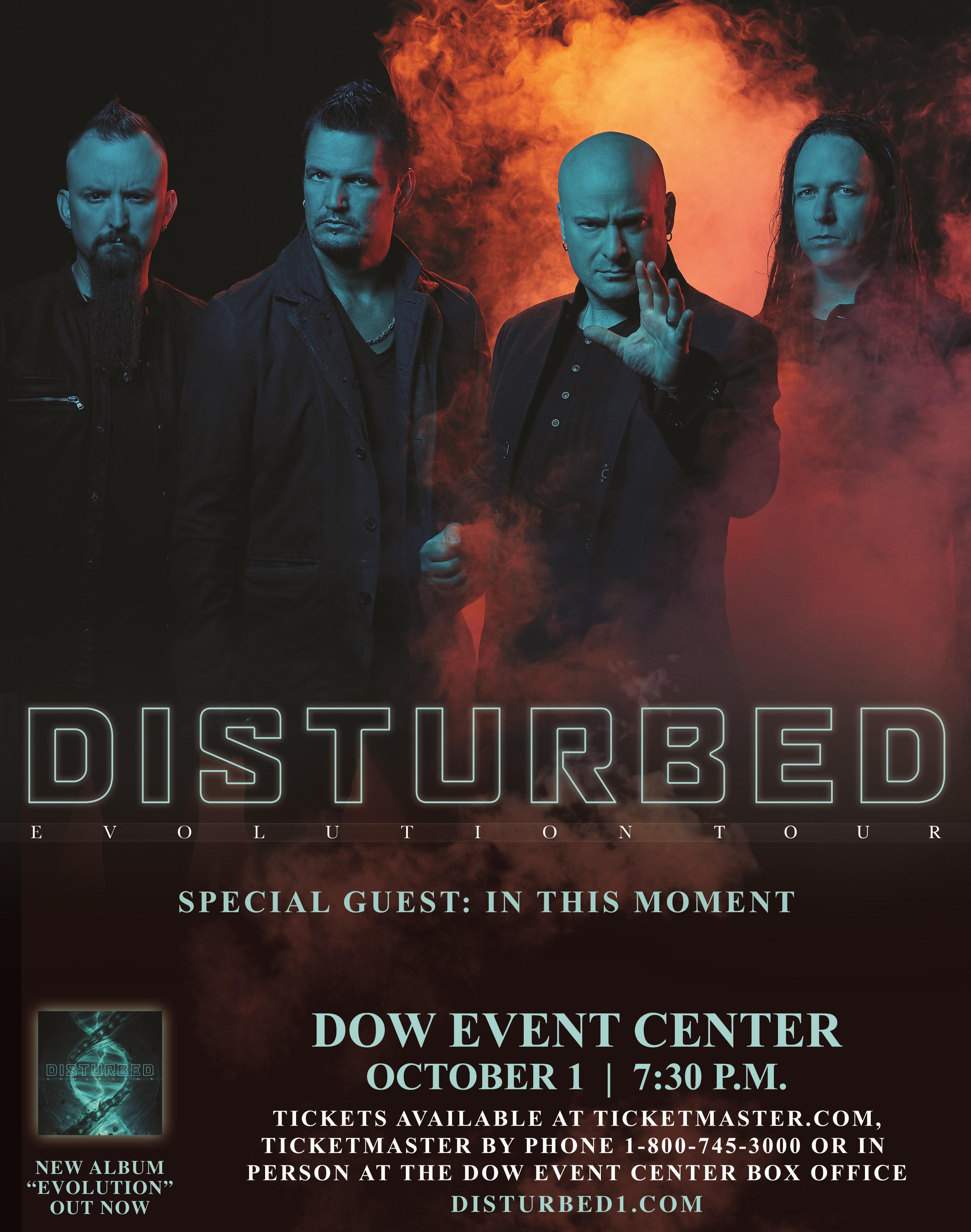 Disturbed New Album 2020.Disturbed Dow Event Center